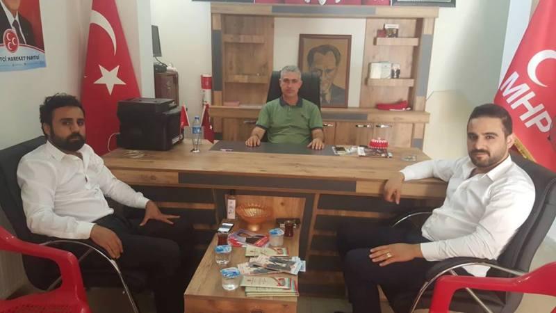 AK Parti Şırnak İl Yönetimi MHP İdil İlçe Başkanı Dalmış'a Teşekkür Ziyareti