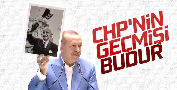 Başkan Erdoğan İnönü'nün ABD bayraklı pozunu gösterdi