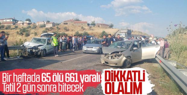 Bayram tatilinde 65 kişi hayatını kaybetti