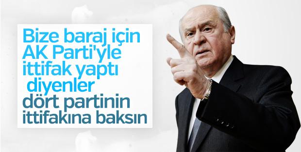 Devlet Bahçeli'ye 4 partinin ittifakı soruldu