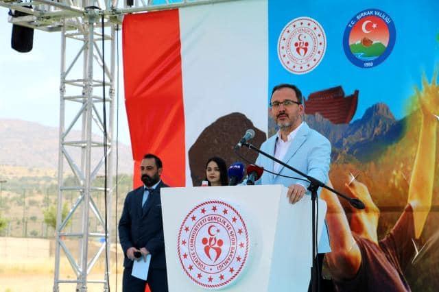 Gençlik ve Spor Bakanı Kasapoğlu, Şırnak'ta düzenlenen Cudi Cup Tenis Turnuvası'nı izledi
