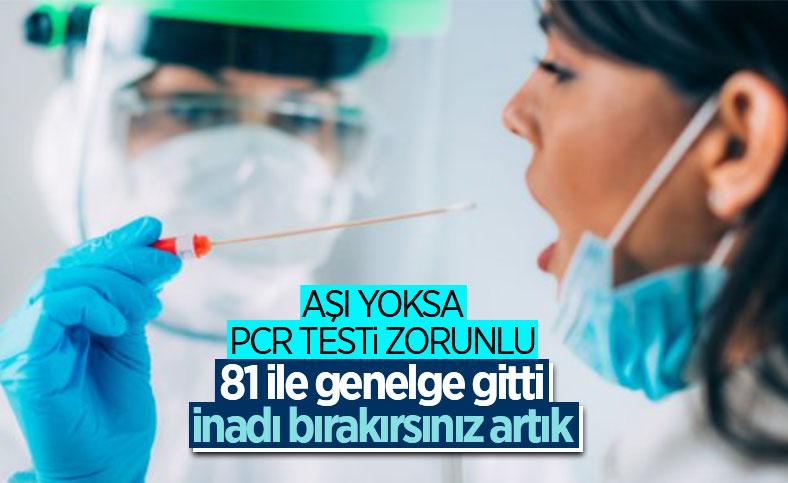 İçişleri Bakanlığı'ndan PCR Testi Zorunluluğu Genelgesi