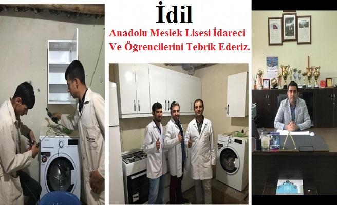 İdil Anadolu Meslek Lisesi İdareci Ve Öğrencilerini Tebrik Ederiz.