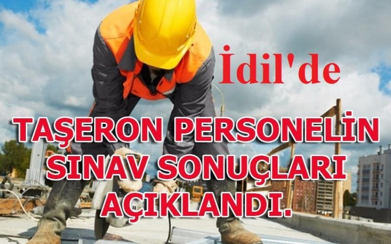 İdil Belediyesi Taşeron Personel Sınav Sonuçları