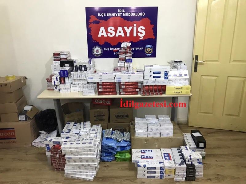 İdil'de 3 bin 921 Paket Kaçak Sigara Ele Geçirildi