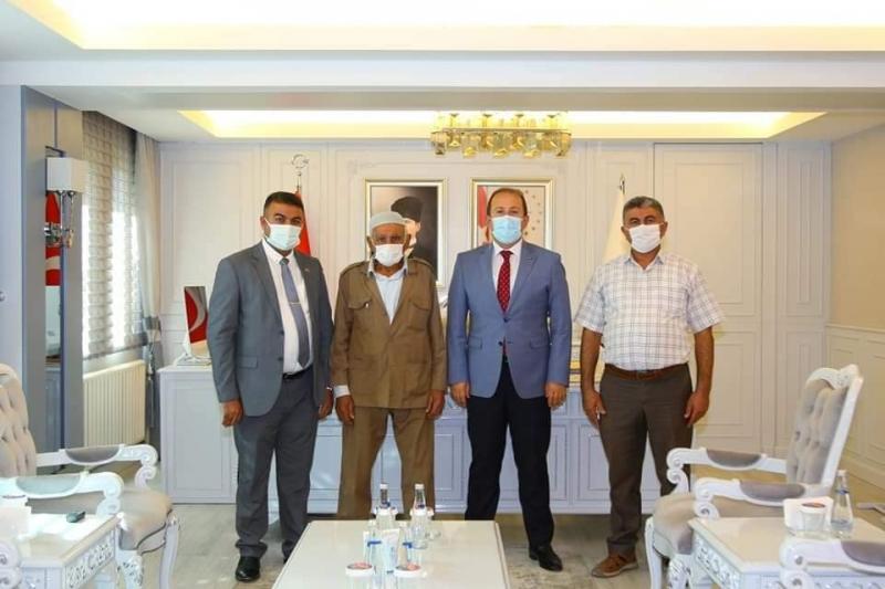 idil'li Şehit Uzman Çavuş Mehmet Sait Barışın Ailesi Şırnak Valisi Ali Hamza Pehlivan'ı ziyaret etti