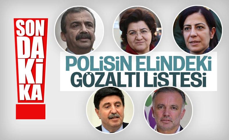 Kobani olayları operasyonunda HDP'li eski vekillere gözaltı