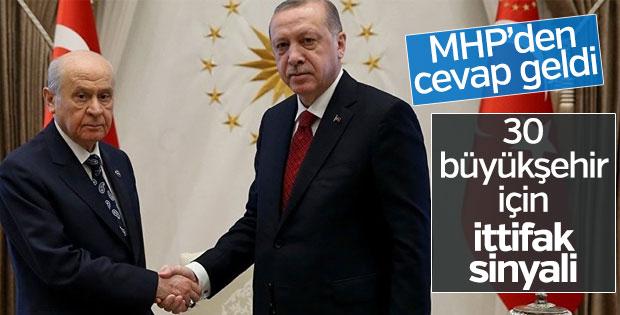 MHP'den Erdoğan'a olumlu ittifak cevabı
