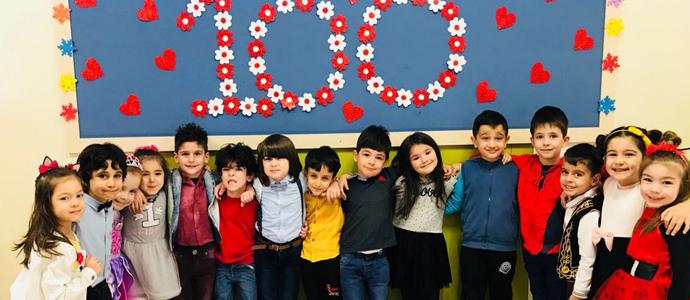 Minikler 100. günlerini coşkuyla kutladı