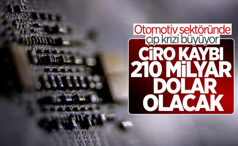 Otomotiv sektöründeki çip krizinin maliyeti 210 milyar doları bulacak