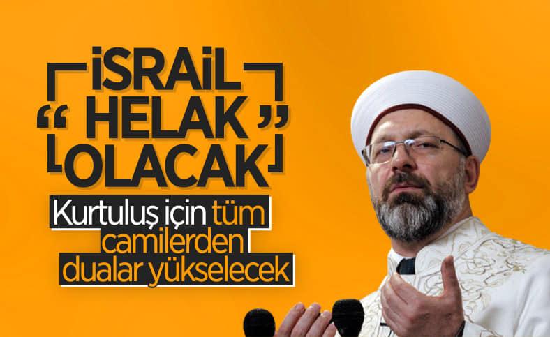 Prof. Dr. Ali Erbaş: Filistin halkına karşı büyük bir soykırım yapılmaktadır