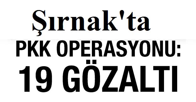 Şırnak'ta Pkk/kck Operasyonu: 19 Gözaltı