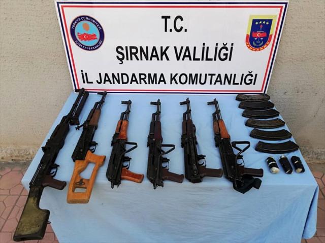 Şırnak'ta PKK'lılara Ait Silah ve Mühimmat Bulundu