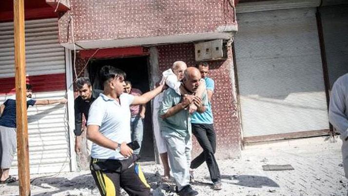 Sivillere havan mermili saldırı sınırda can pazarı