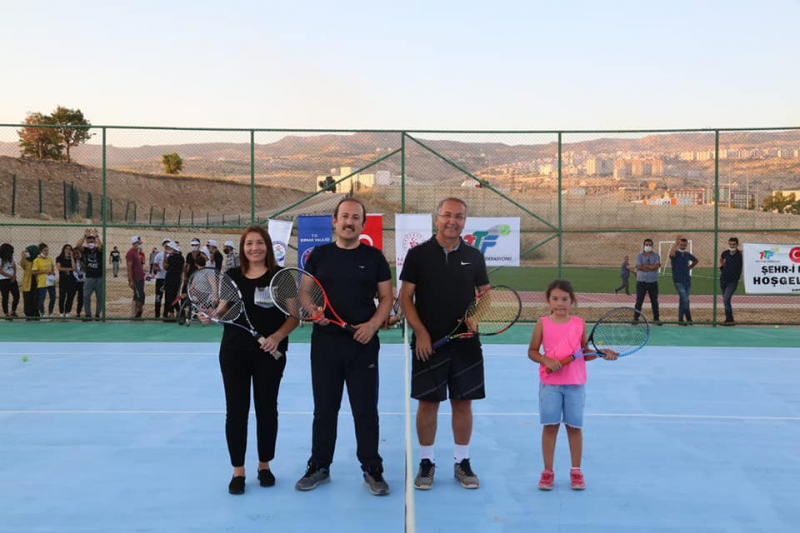 Tenis Federasyonu Başkanı Cengiz Durmuş, Şırnak'ı ziyaret etti