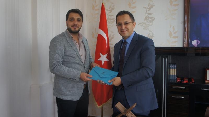 TÜGVA'dan İdil Kaymakamı Ve Belediye Başkan Vekili Zafer  Sağ'a ziyaret