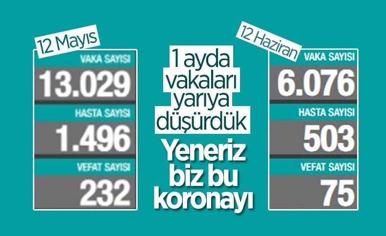 12 Haziran Türkiye'de koronavirüs tablosu