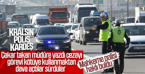 Çakarlı aracı durduran polise soruşturma kaldırıldı