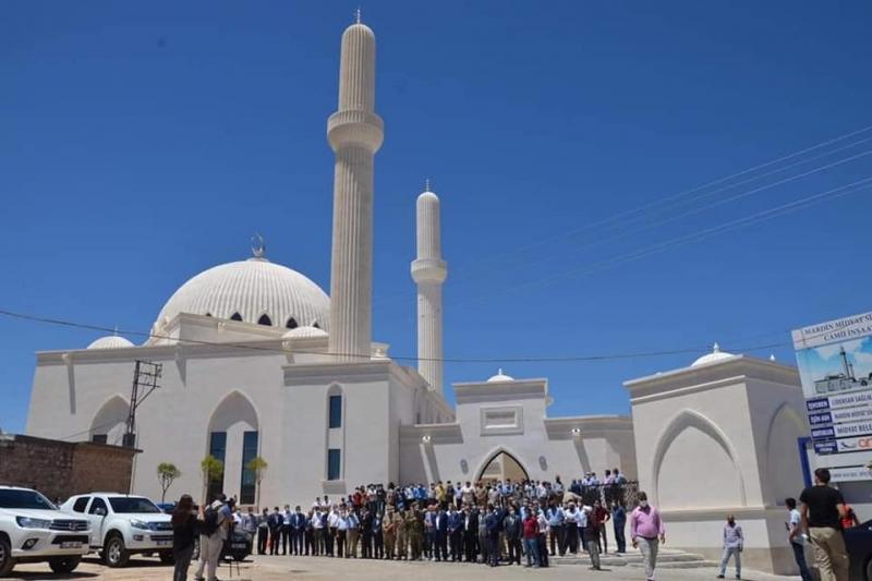 Camii Dualarla açıldı