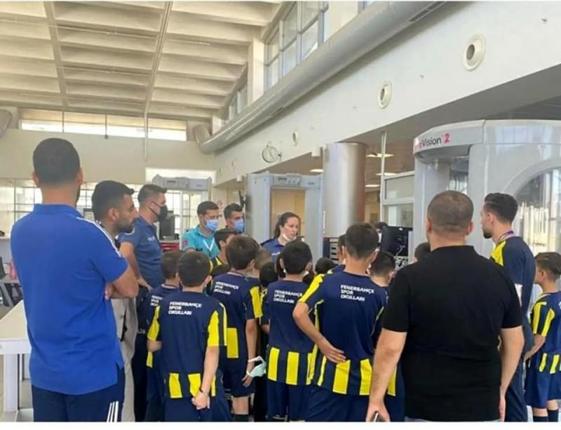 Cizre Fenerbahçe Futbol Okulu öğrencileri Şırnak Havalimanını gezdi