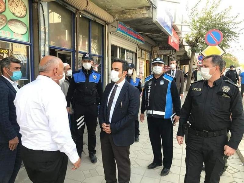 idil Kaymakamı ve Belediye Başkan Vekili Refik Özsoy, korona virüs denetimlerine devam ediyor