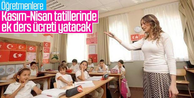 Öğretmenler ara tatilde de ek ders ücreti alacak
