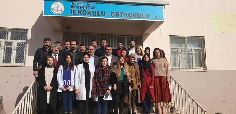 Şırnak Milletvekili Rizgin Birlik idil Kırca ilk Okulu Ve Ortaokulunu Ziyaret Ederek Öğretmen Ve Öğrencilerle Bir Araya Geldi.