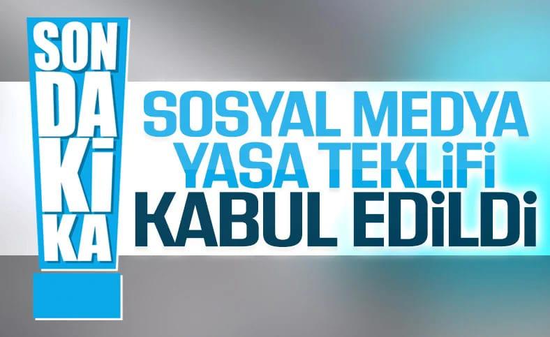 Sosyal medya yasa teklifi TBMM'de kabul edildi