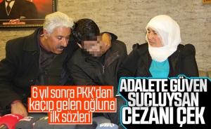 HDP önündeki bir aile daha evladına kavuştu
