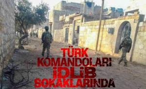 İdlib sokaklarında Türk komandoları devriye attı
