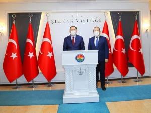 Kamu Denetçiliği Kurumu Başdenetçisi Şeref Malkoç Şırnak Valisi Ali Hamza Pehlivan'ı Ziyaret Etti