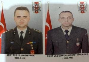 Pençe-Kaplan Operasyonu bölgesinde meydana gelen araç kazasında 2 asker şehit oldu.