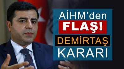 AİHM: Türkiye, Selahattin Demirtaş'ı salıvermeli
