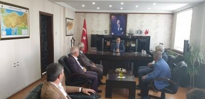 AK Parti idil İlçe Başkanı Murat Ay Belediye Başkan vekili Zafer Sağ'a hayırlı Olsun Ziyareti