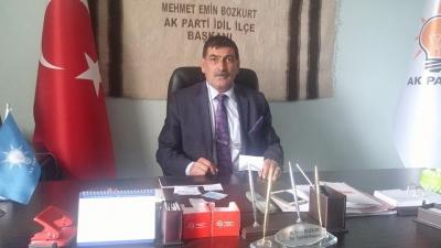 AK Parti idil İlçe Başkanı Mehmet Emin Bozkurt Görevinden İstifa Etti