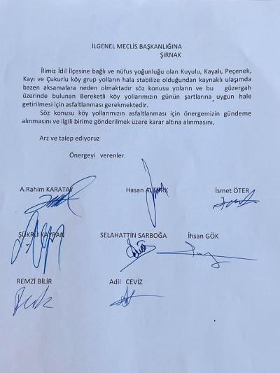 AK Parti Şırnak İl Genel Meclis Üyesi Abdurrahim Karatay idil'de Yapacağımız Hizmet HDP Grubu Tarafından Engelleniyor