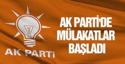 AK Parti'de mülakat süreci başladı