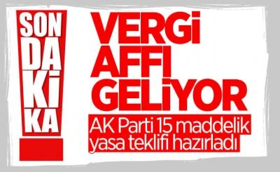 AK Parti'den yeni torba yasa teklifi