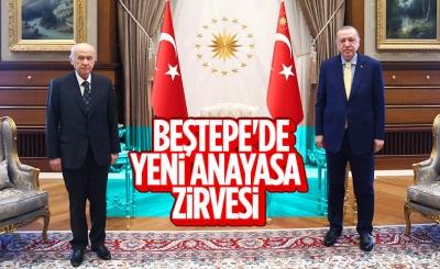 Beştepe'de Cumhurbaşkanı Erdoğan-Bahçeli görüşmesi