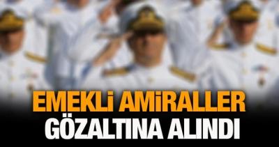 Bildiriye imza atan emekli amirallere gözaltı