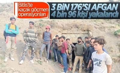 Bitlis'te 8 ayda 4 bin kaçak göçmen yakalandı