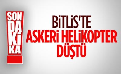 Bitlis'te askeri helikopter düştü