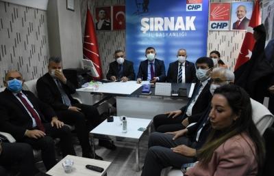 CHP Ekonomi Masası heyeti Şırnak'ta
