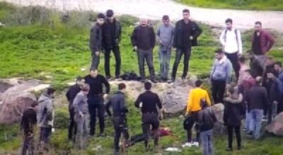 Cizre  Nehri'ne Atlayan Kadını Polis Kurtardı