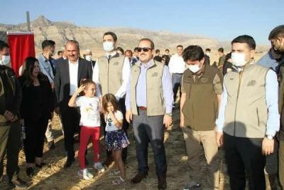 Cudi Dağı'na 40 Ceylan Bırakıldı