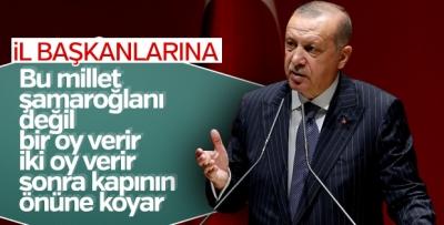 Cumhurbaşkanı Erdoğan'dan il başkanlarına tevazu hatırlatması