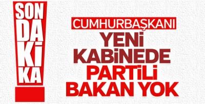 Cumhurbaşkanı Erdoğan yeni kabineyle ilgili detay verdi
