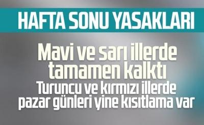 Cumhurbaşkanı Erdoğan: Hafta sonu kısıtlaması yüksek ve çok yüksek illerde devam edecek