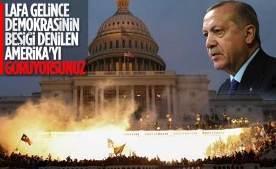 Cumhurbaşkanı Erdoğan'dan Amerika'daki olaylara ilk yorum