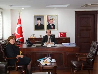 Halef ve Selef il Milli Eğitim Müdürleri, Vali Ali Hamza Pehlivan'ı Ziyaret Etti